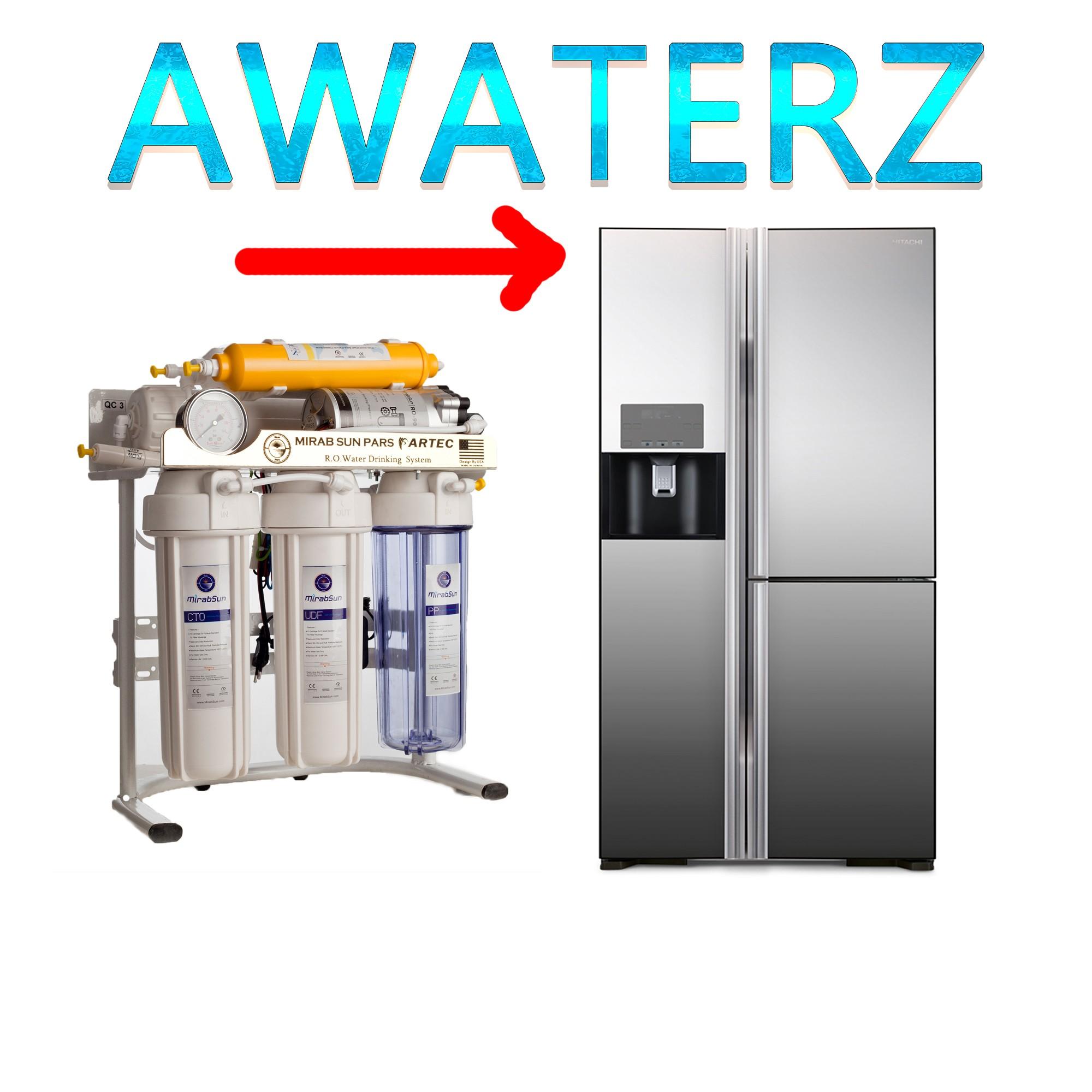آموزش اتصال دستگاه تصفیه آب به یخچال