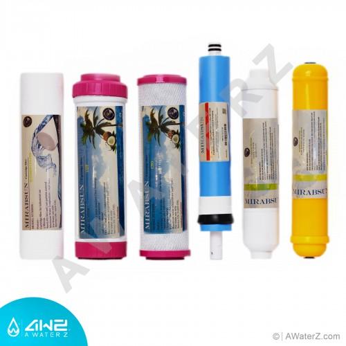 ست کامل فیلتر دستگاه تصفیه آب خانگی(6 مرحله)